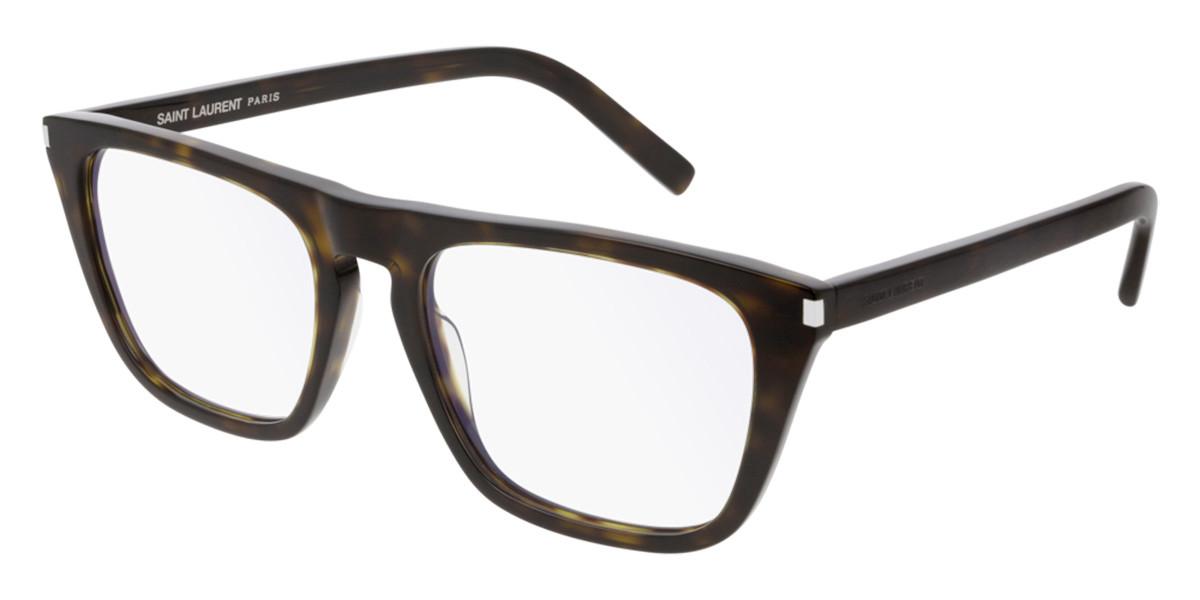 Saint Laurent SL 343 004 Men's Glasses  Size 55 - Free Lenses - HSA/FSA Insurance - Blue Light Block Available