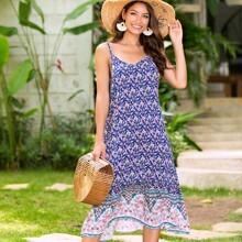 Floral & Tribal Print Cami Dress