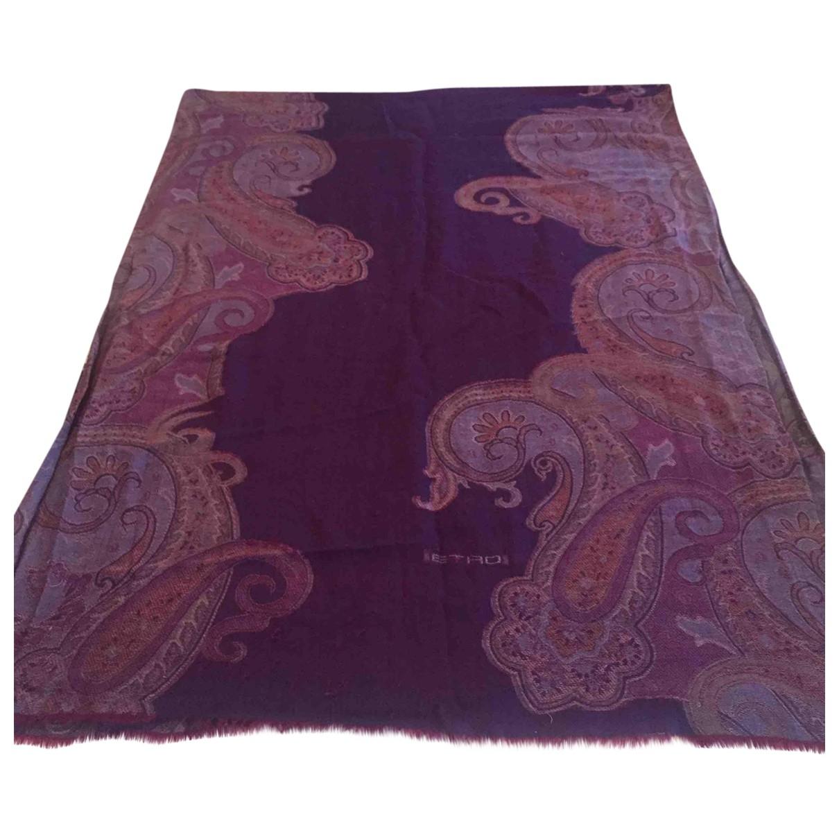 Etro \N Purple Cashmere scarf for Women \N