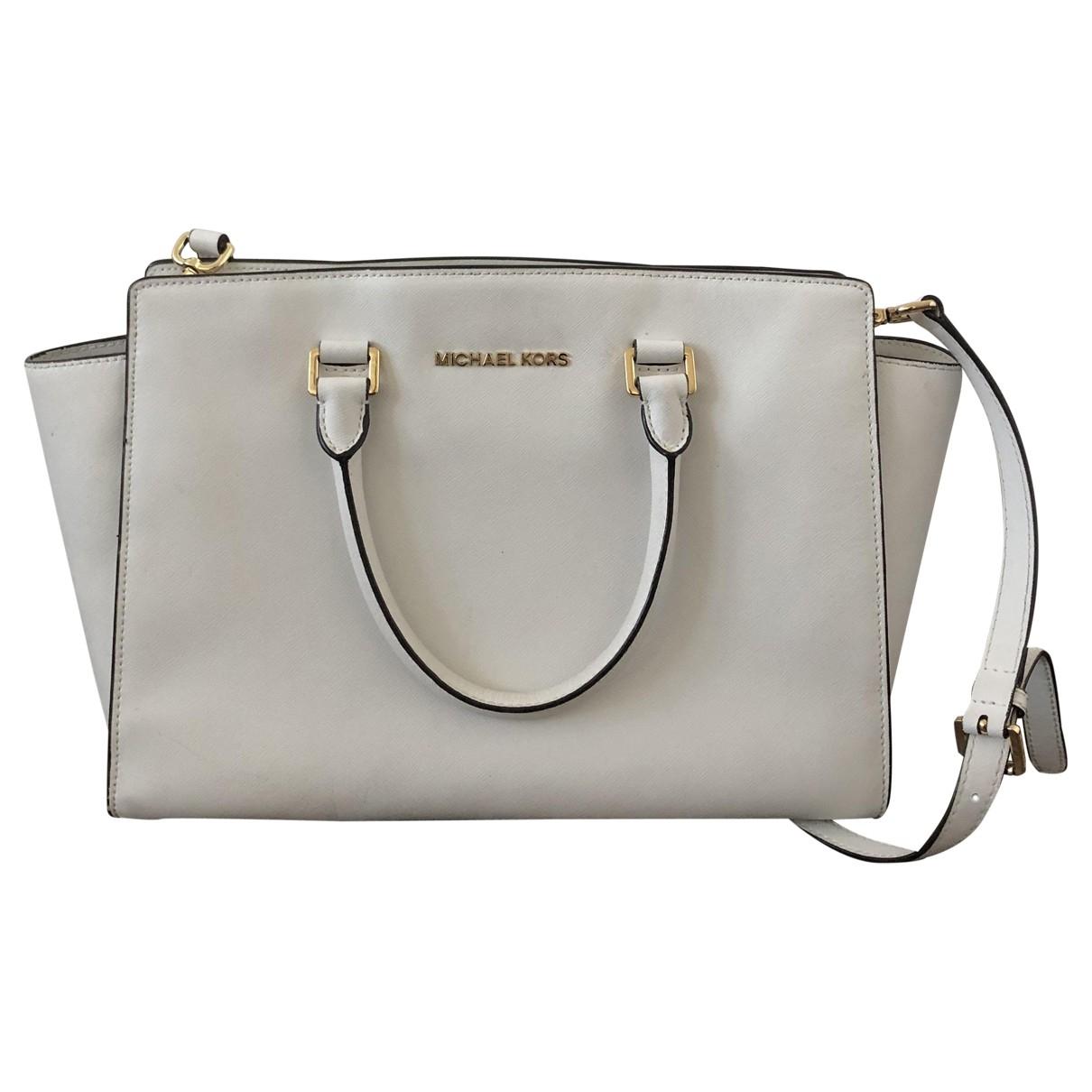 Michael Kors Selma White Leather handbag for Women \N