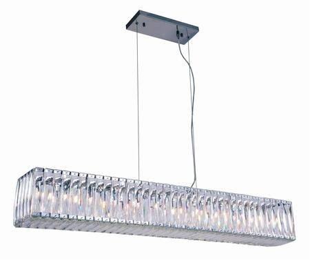 2117G48C/RC 2117 Cuvette Collection Chandelier L:47.7 In W:7.5In H:7In Lt:11 Chrome Finish (Royal Cut