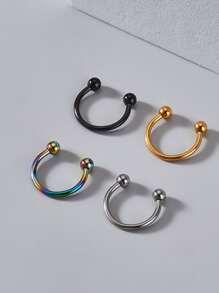 4pcs Guys Simple Nose Ring