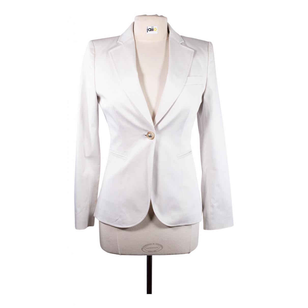 Hugo Boss N White Cotton jacket for Women 38 FR