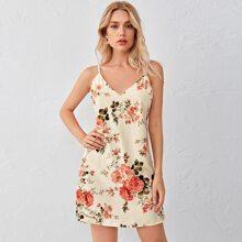Floral Print Slip Dress