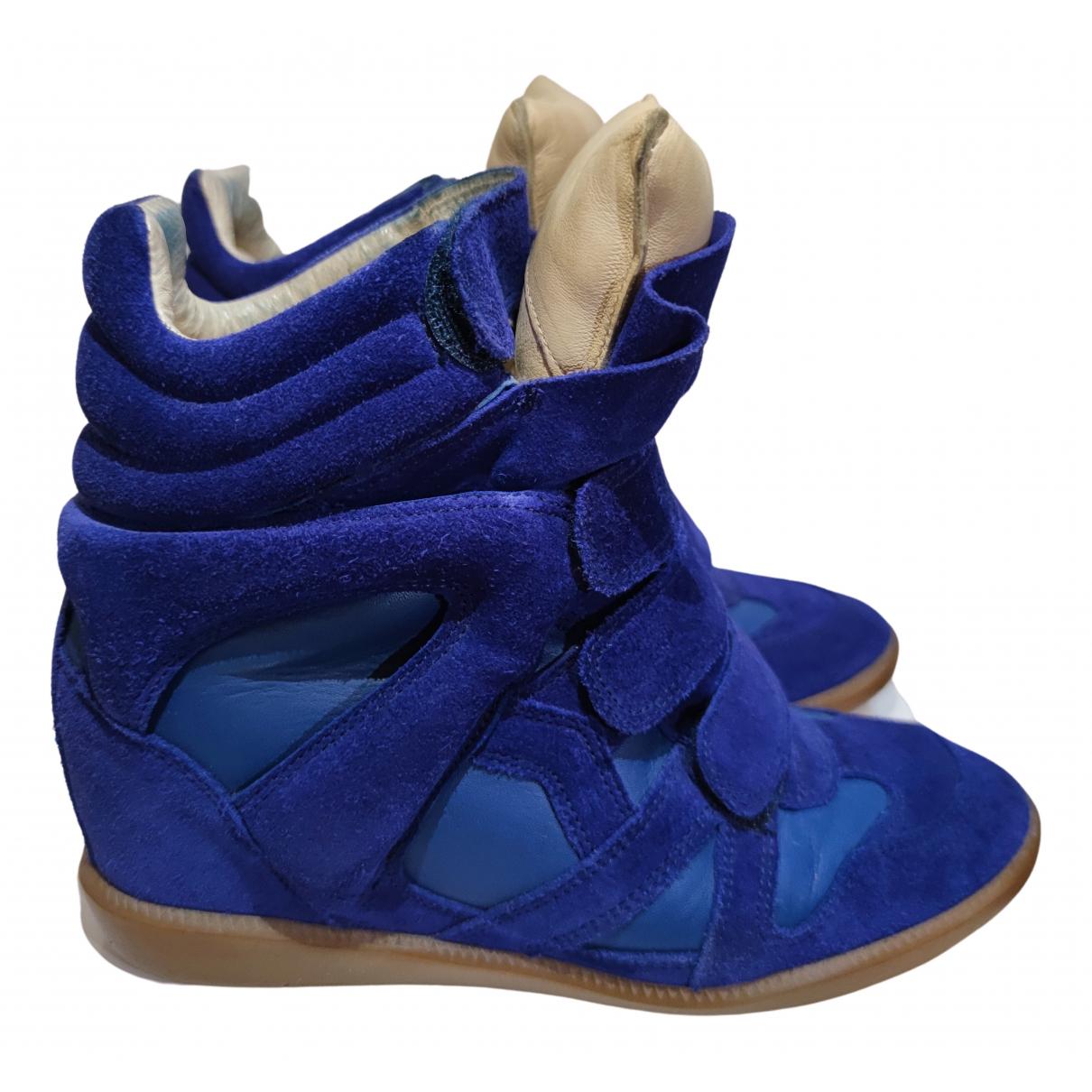 Isabel Marant - Baskets Beckett pour femme en suede - bleu