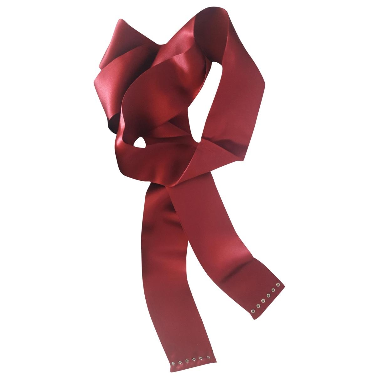 Gucci - Foulard   pour femme en soie - bordeaux