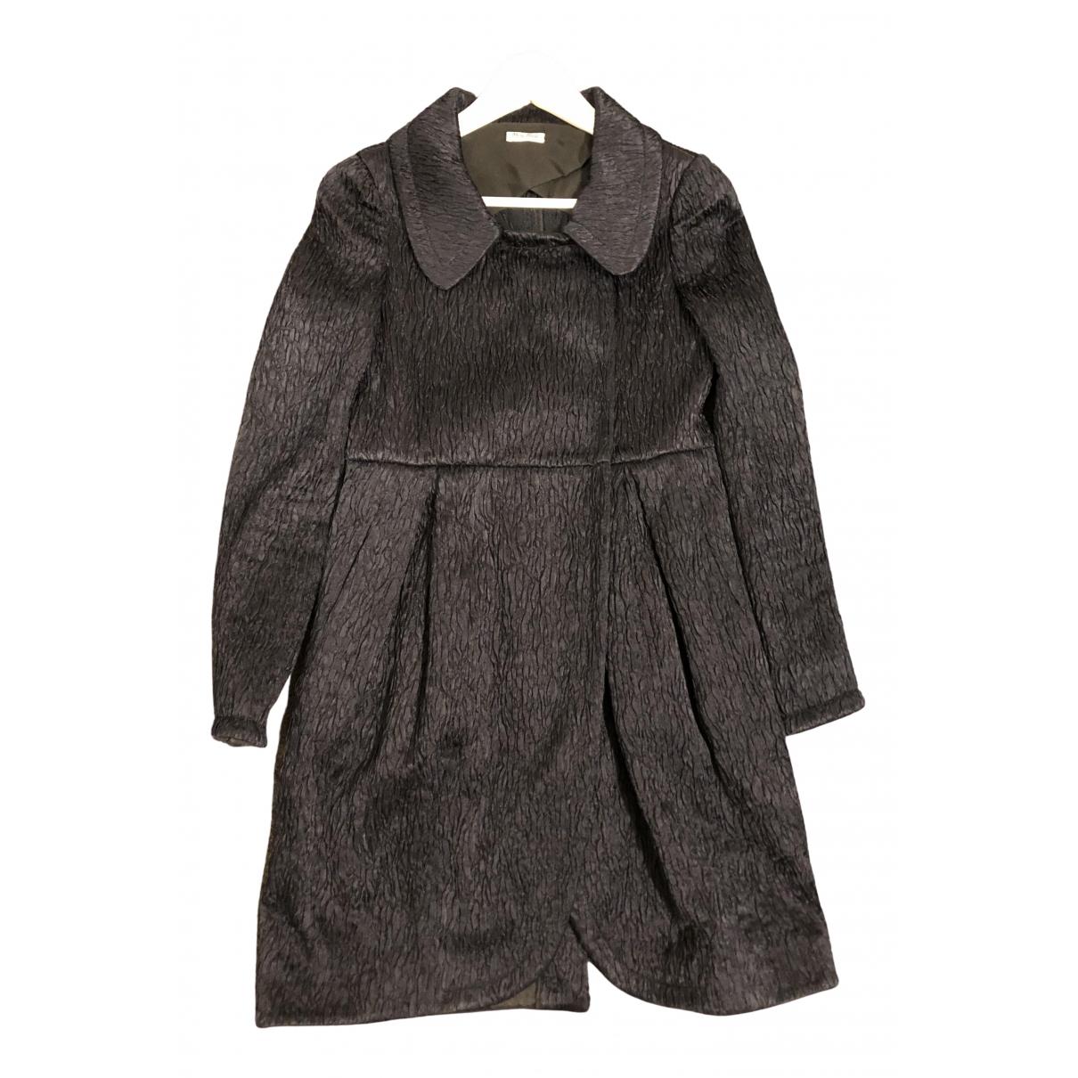 Miu Miu - Manteau   pour femme en soie - marine
