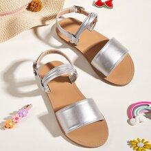 Kleinkind Maedchen Sandalen mit metallischem Fersenriemen