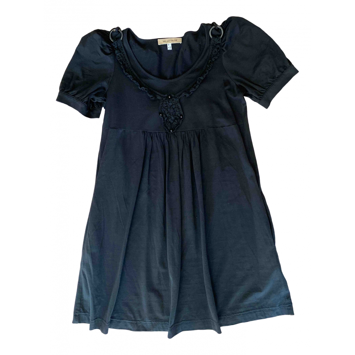 See By Chloe - Robe   pour femme en soie - noir