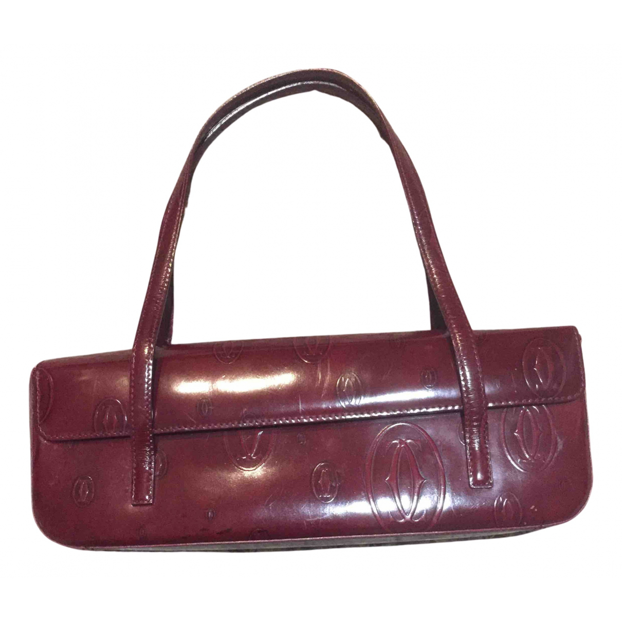 Cartier Guirlande Handtasche in  Bordeauxrot Lackleder