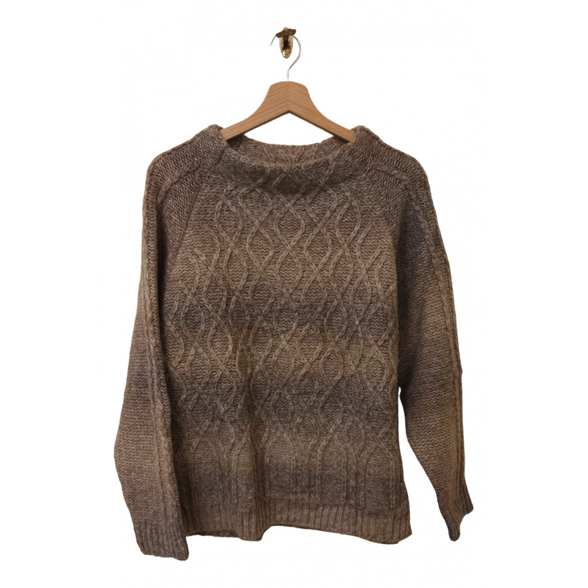 Max Mara Weekend - Pull   pour femme en laine - beige