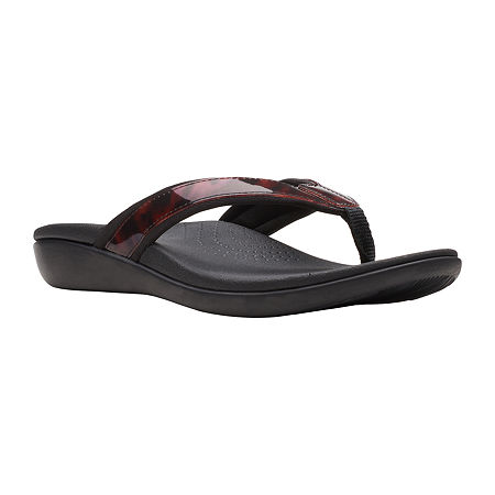 Clarks Womens Brio Sol Flip-Flops, 9 Medium, Brown