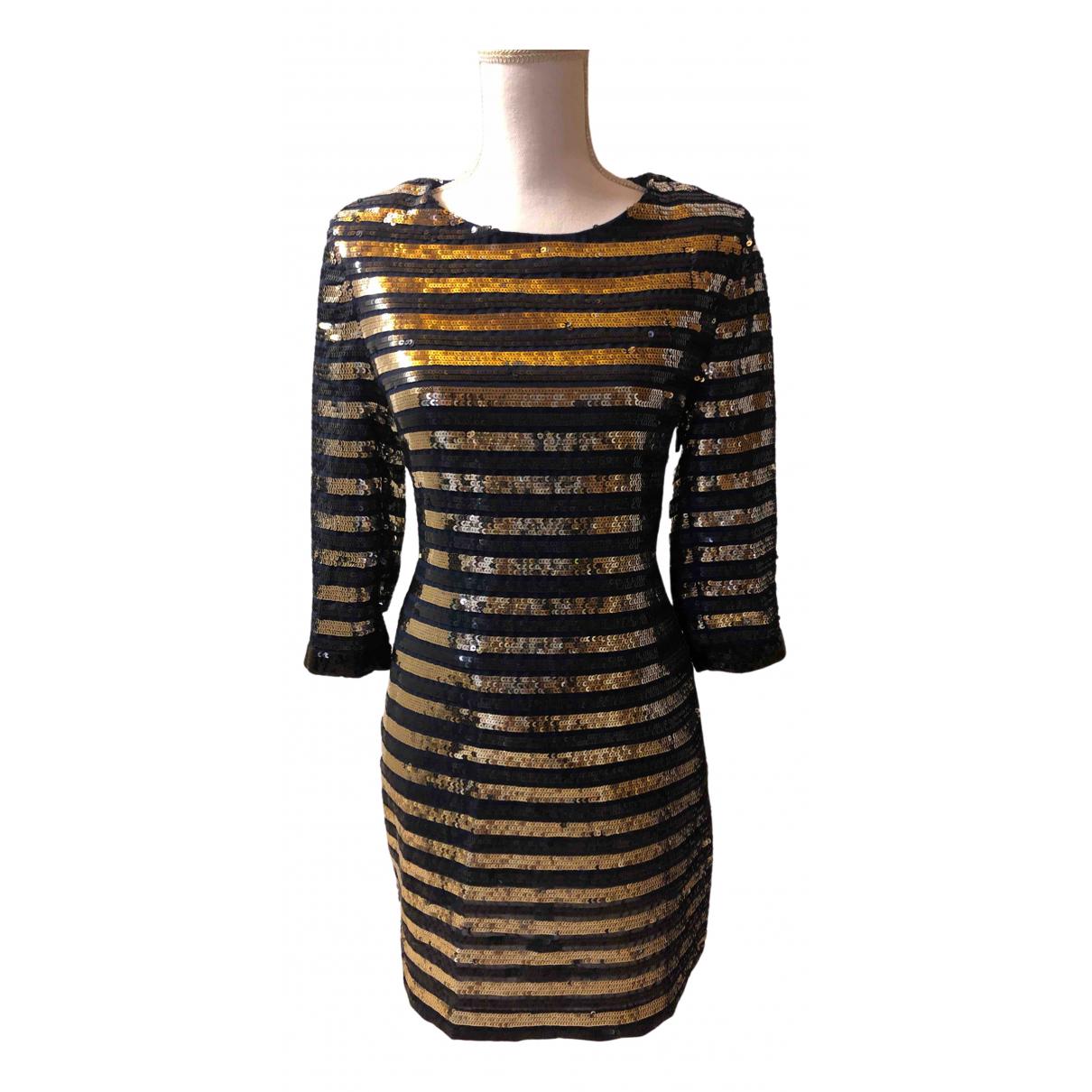 Claudie Pierlot \N Kleid in  Blau Mit Pailletten