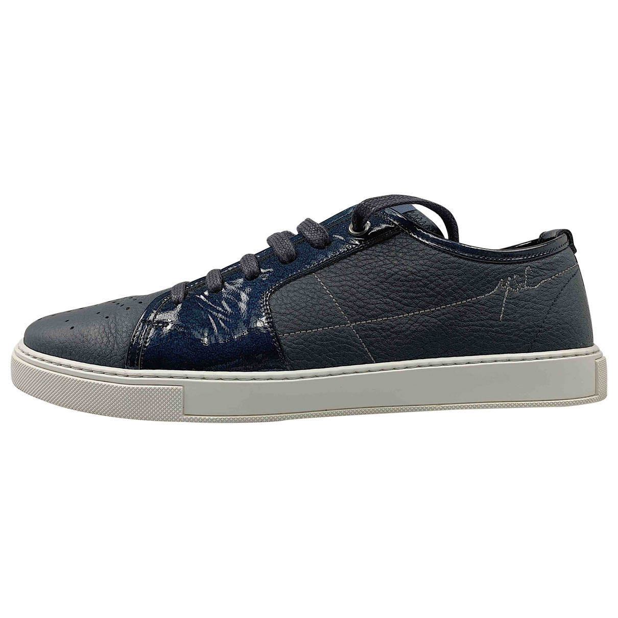 Yves Saint Laurent \N Navy Leather Trainers for Men 43 EU
