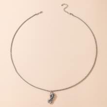 Guys Animal Pendant Chain Necklace