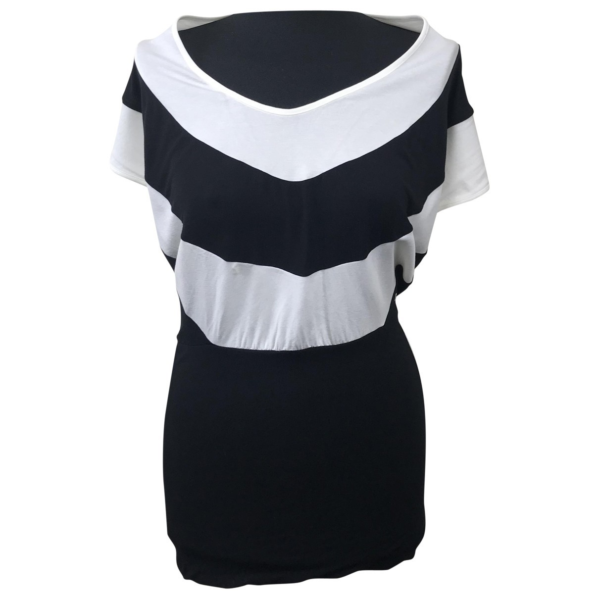 Fendi \N Kleid in  Schwarz Baumwolle - Elasthan