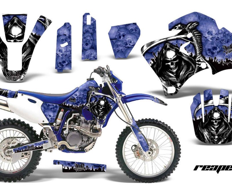 AMR Racing Dirt Bike Graphics Kit Decal Wrap For Yamaha WR 250F |400F |426F 1998-2002áREAPER BLUE
