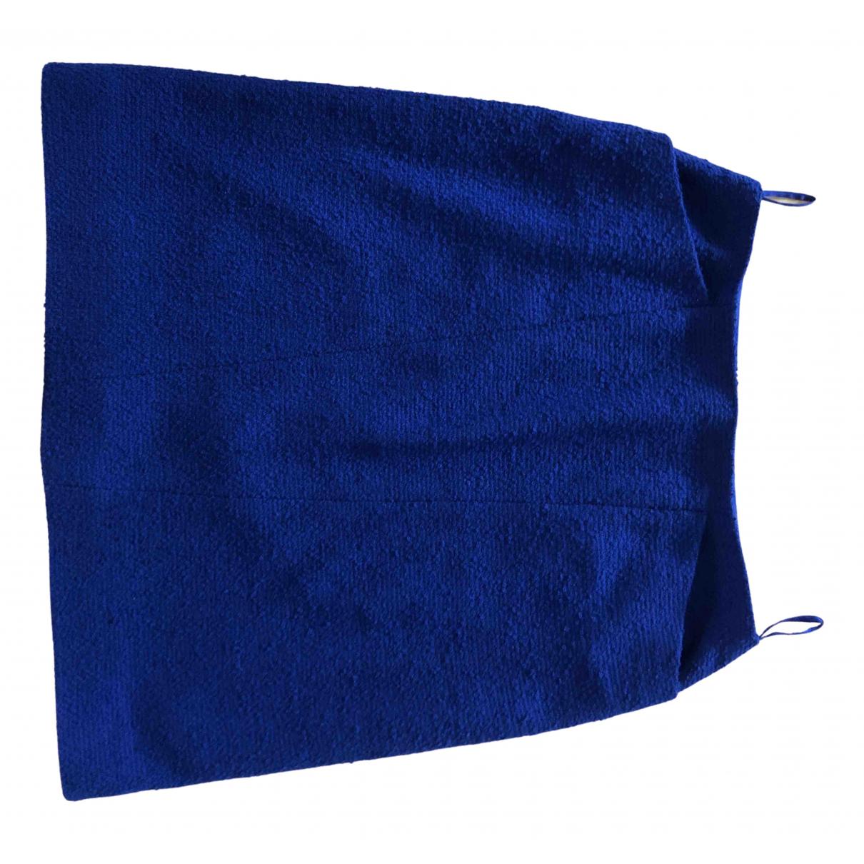 Chanel - Jupe   pour femme en laine - bleu