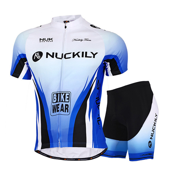 Male Progressive Shade Breathable Short Sleeve Jersey Full Zipper Quick-Dry Cycling Suit