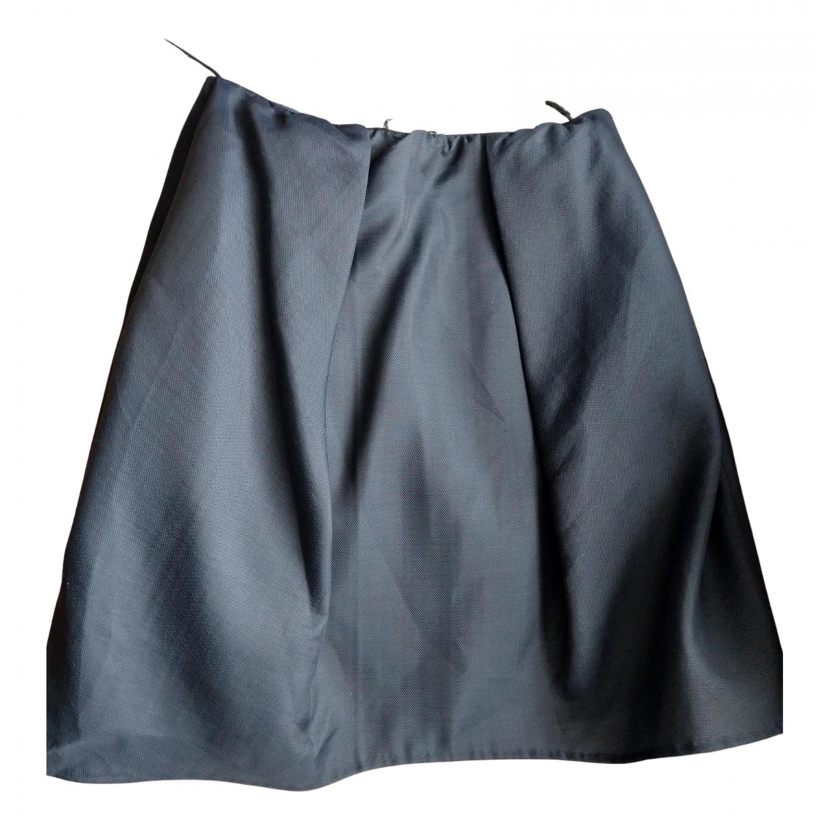 Carven N Grey Wool skirt for Women 42 FR
