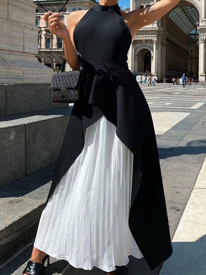 Ericdress Ankle-Length Sleeveless Backless Asymmetrical Fall Dress