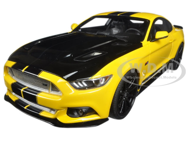 2015 Ford Shelby Mustang  GT Yellow and Black USA Exclusive Series Release 2 1/18 Model Car by GT Spirit for ACME