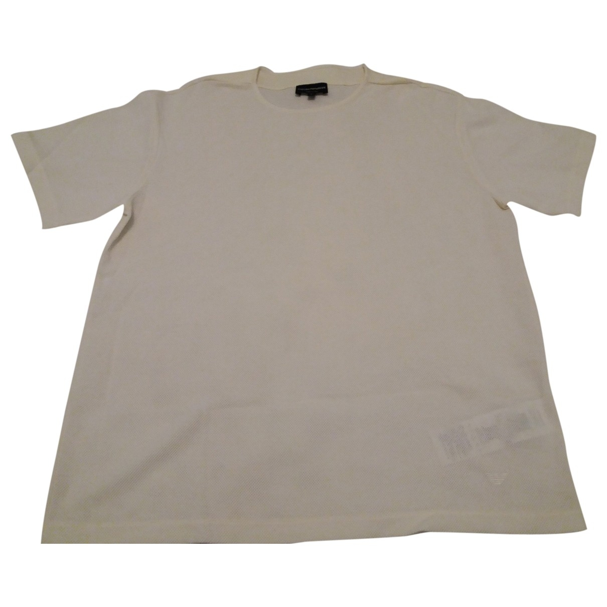 Emporio Armani \N White Cotton T-shirts for Men L International