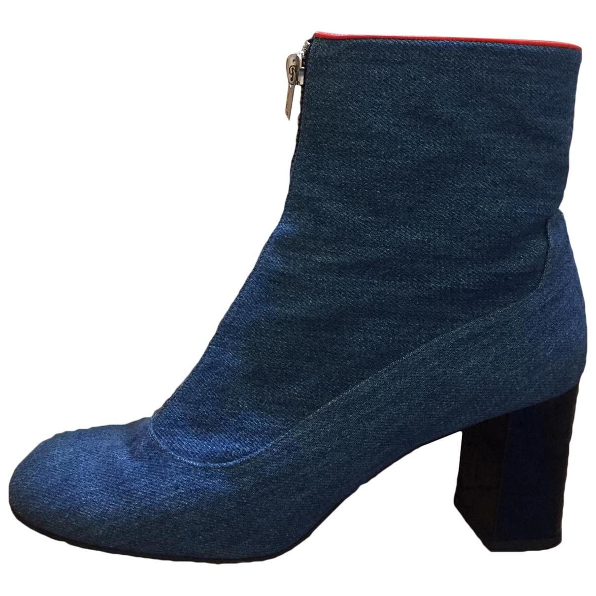 Camilla Elphick - Boots   pour femme en toile - bleu