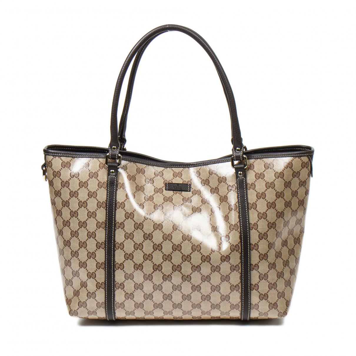 Gucci \N Handtasche in  Beige Synthetik