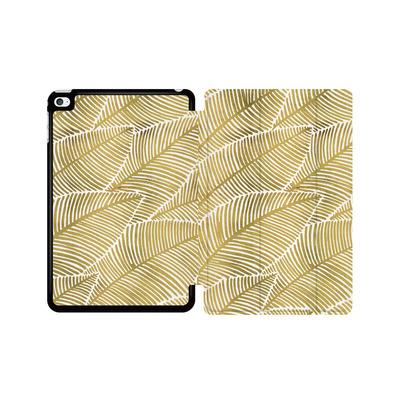 Apple iPad mini 4 Tablet Smart Case - Tropical Leaves Gold von Cat Coquillette