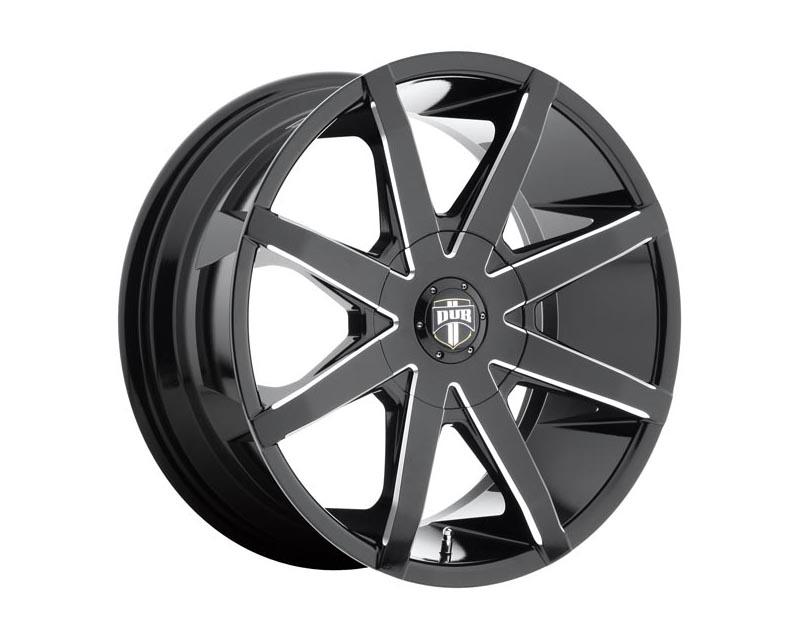 DUB S109 Push Wheel 20x8.5 BLANK 22mm Gloss Black Milled