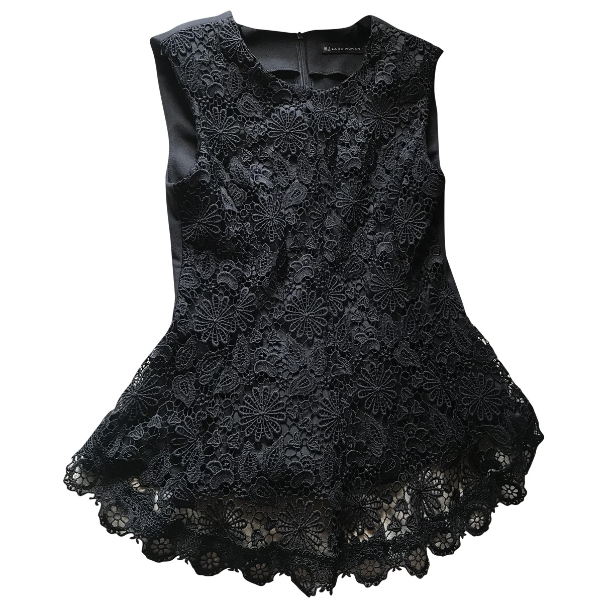 Zara \N Top in  Schwarz Polyester