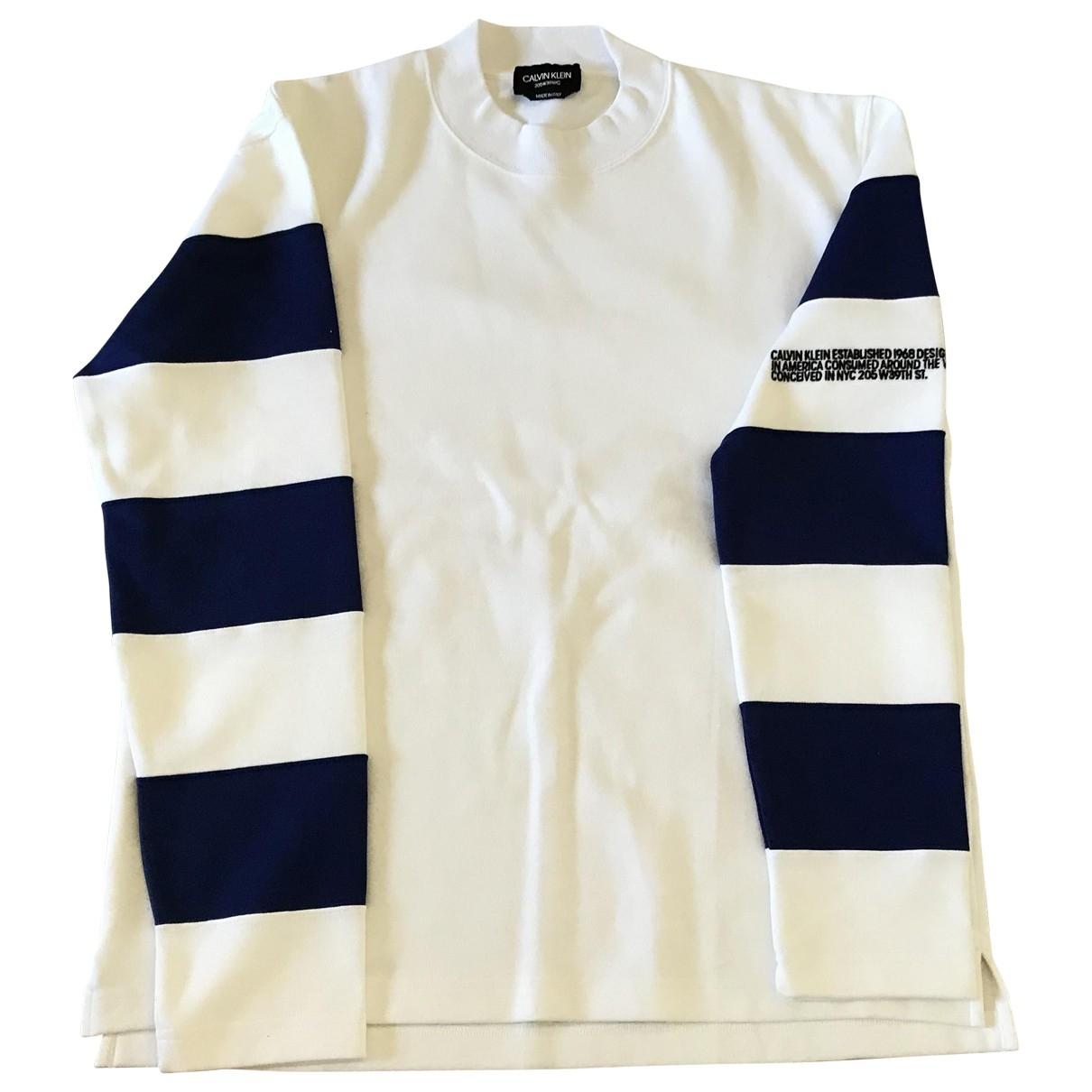 Calvin Klein 205w39nyc \N Pullover.Westen.Sweatshirts  in  Weiss Baumwolle