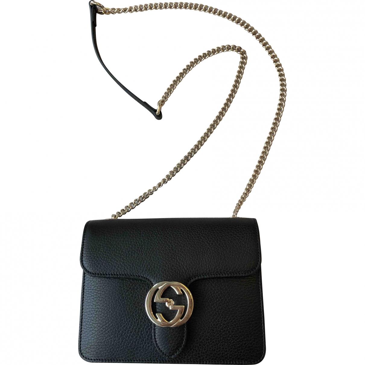 Gucci Interlocking Black Leather handbag for Women N