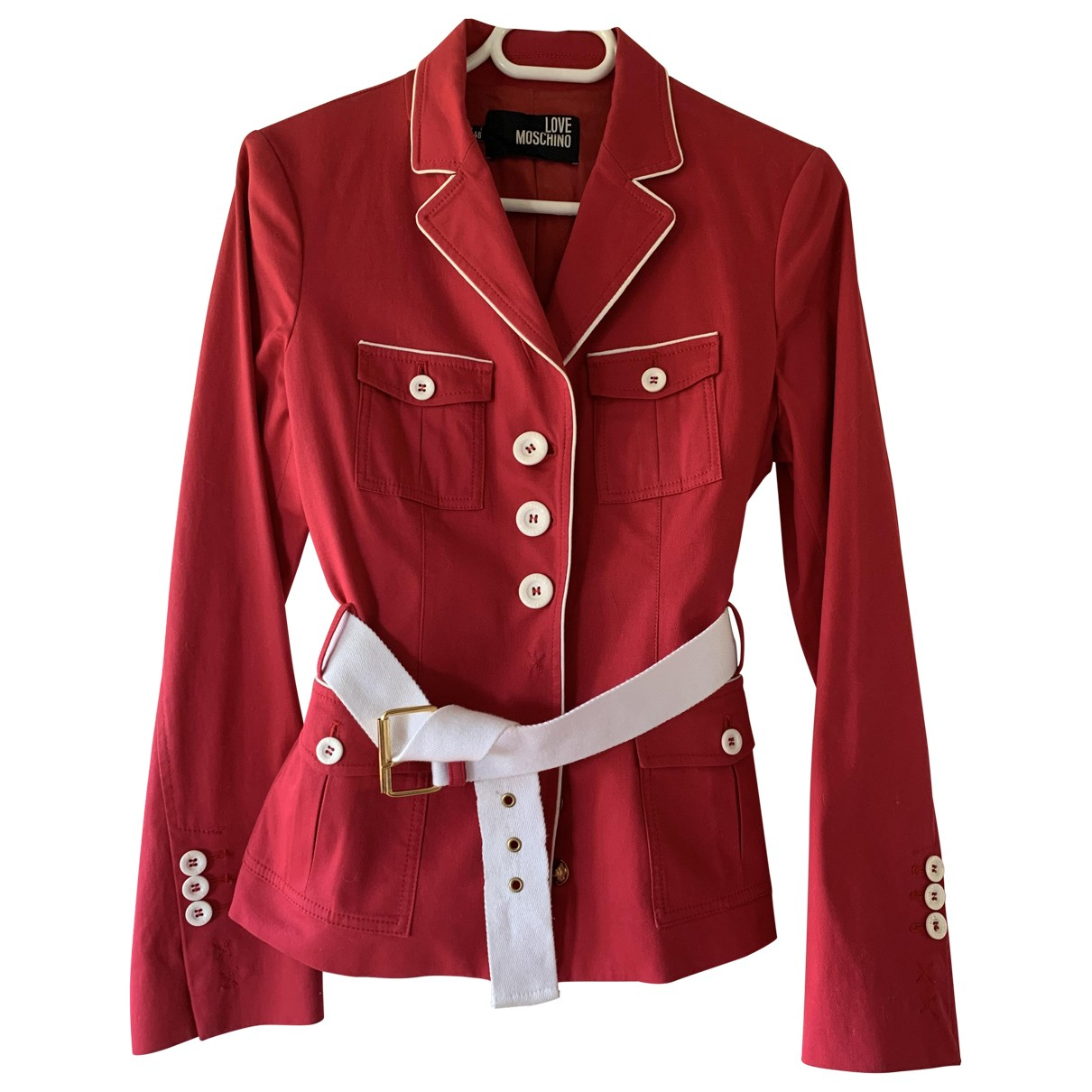 Moschino Love \N Pink Cotton jacket for Women 38 FR