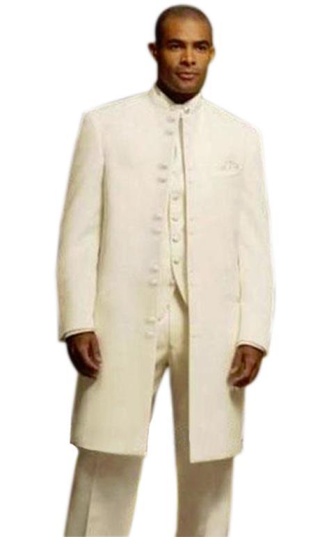 Alberto Nardoni Matrix Long Style Mandarin Banded Collar Suits