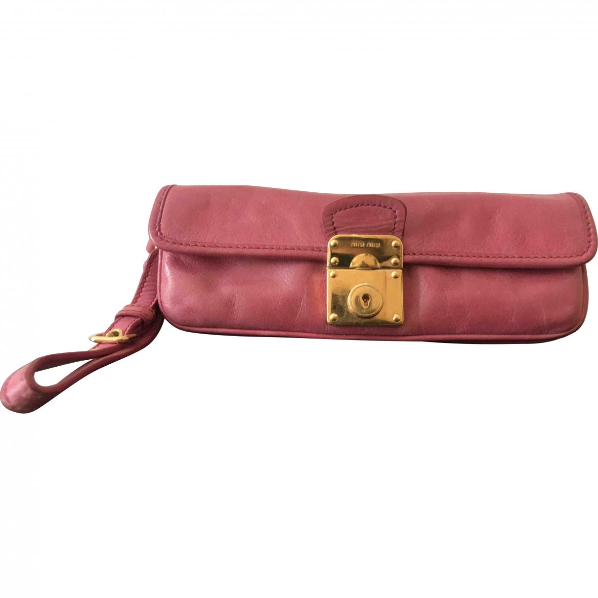 Miu Miu \N Pink Leather Clutch bag for Women \N