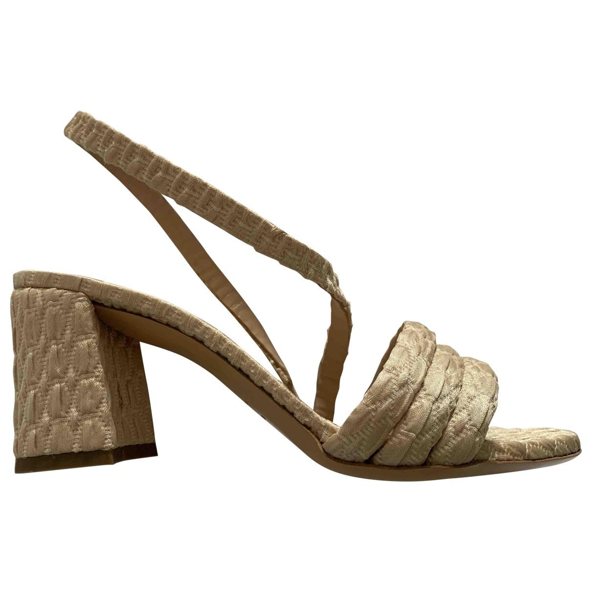 Non Signé / Unsigned \N Beige Cloth Sandals for Women 39 EU
