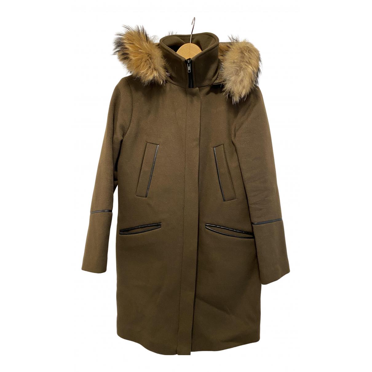 Soia & Kyo - Manteau   pour femme en laine - kaki