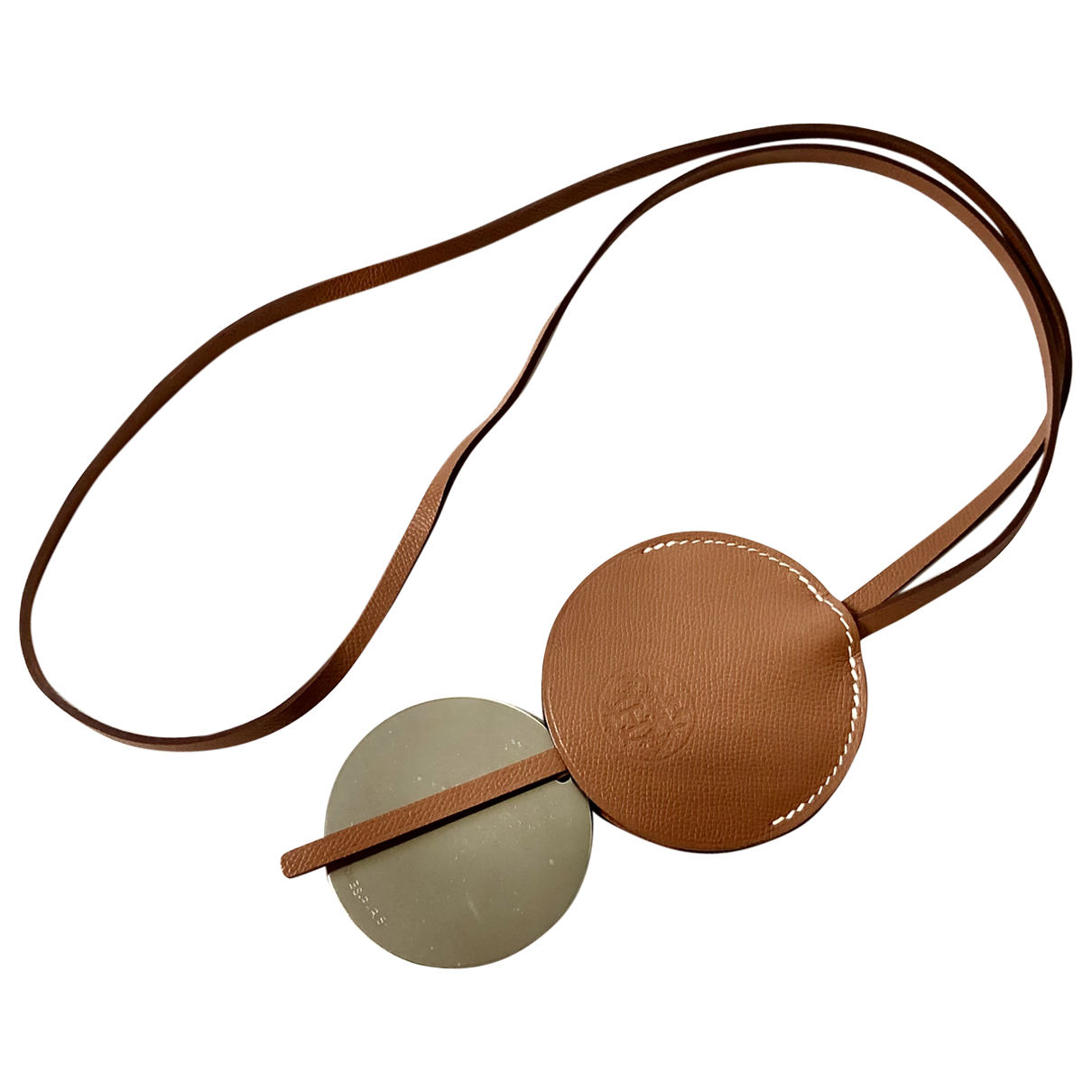 Hermès N Camel Leather necklace for Women N