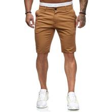 Maenner Einfarbige Bermuda Shorts mit schraegen Taschen