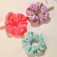 12pcs Velvet Crumpled Scrunchie