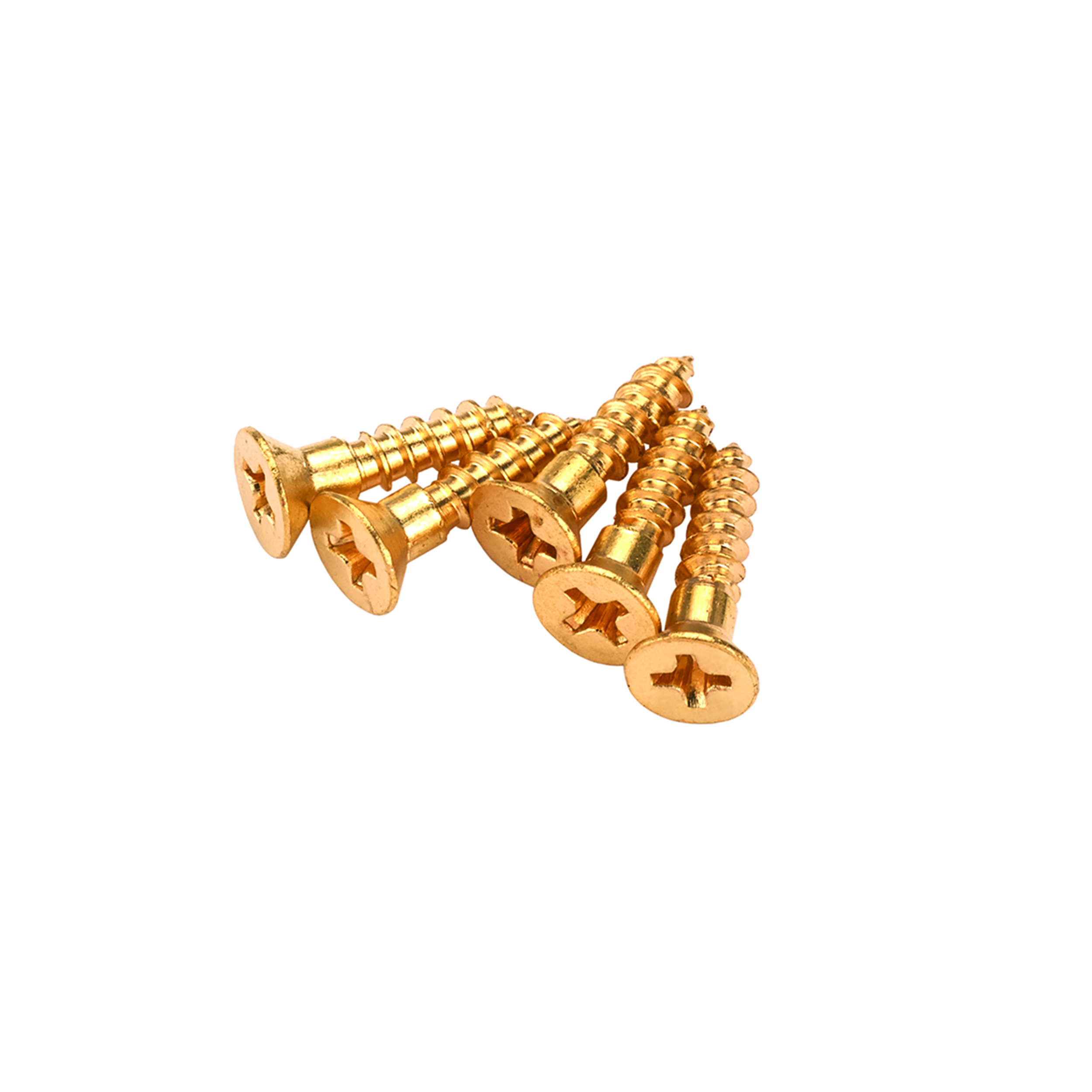 Solid Brass Screws #2 x 1/2