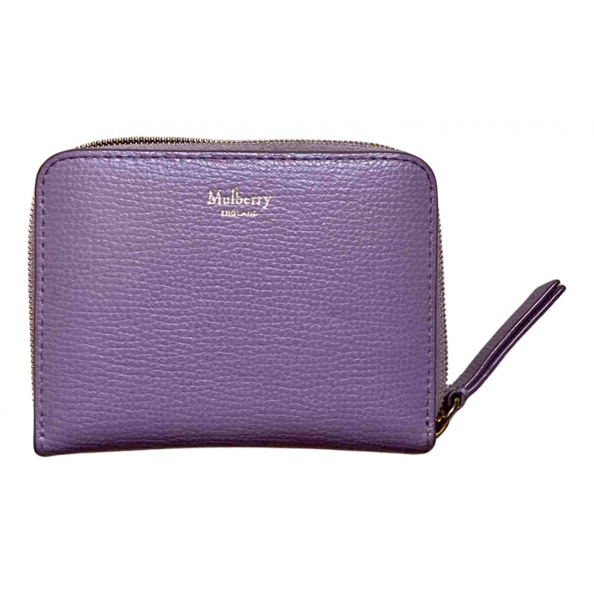 Mulberry - Petite maroquinerie   pour femme en cuir - violet