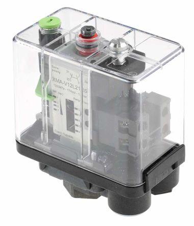 Telemecanique Sensors Pressure Sensor for Air, Fresh Water, Sea Water , 12bar Max Pressure Reading Relay