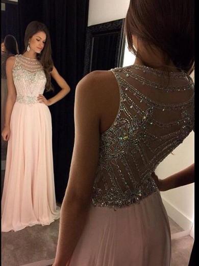 Ericdress Straps Beaded Sheer Back Prom Dress