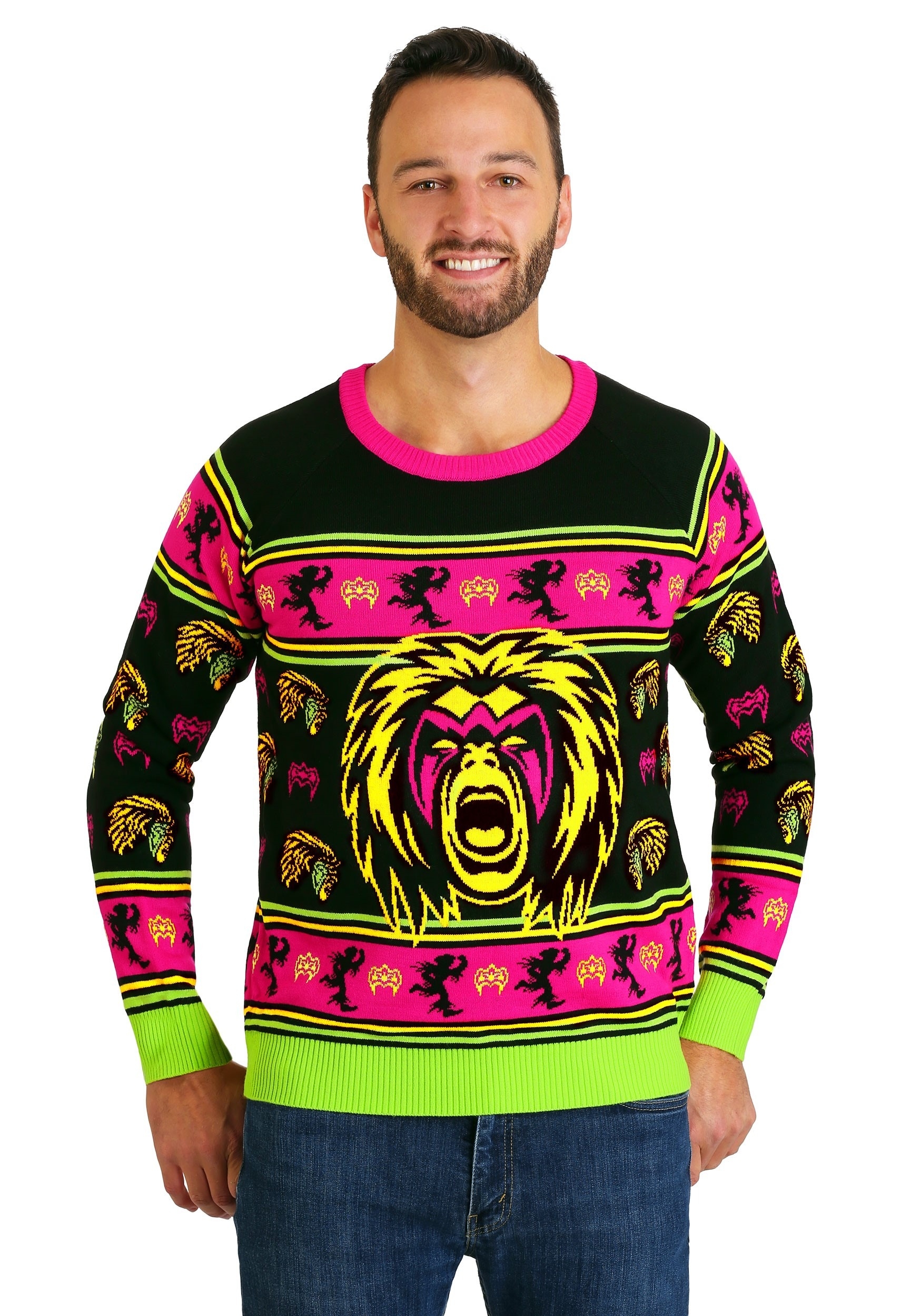 WWE Ultimate Warrior Adult Ugly Christmas Sweater