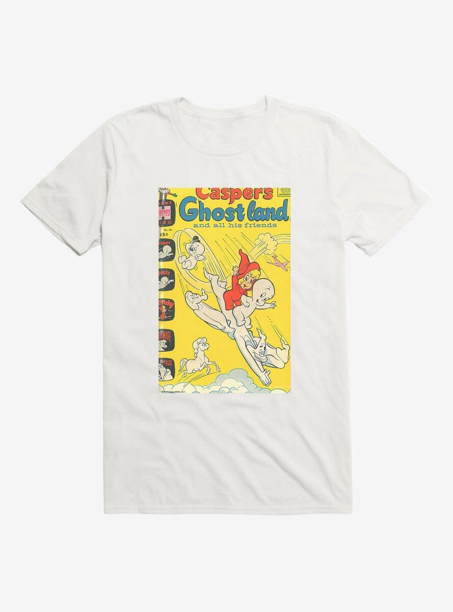 Casper The Friendly Ghost Ghostland And Friends Airplane Dive T-Shirt