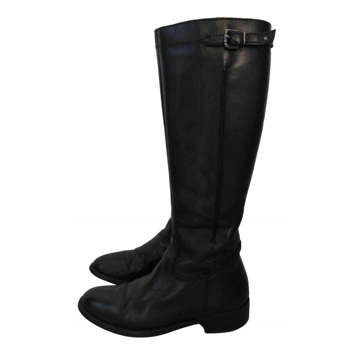 Minelli - Bottes   pour femme en cuir - noir