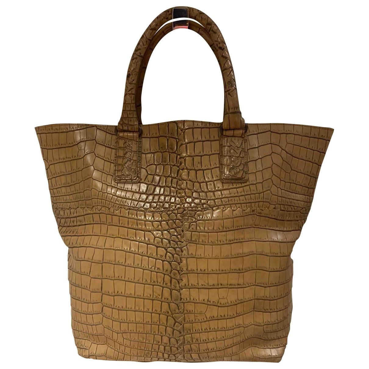 Bottega Veneta \N Beige Crocodile handbag for Women \N